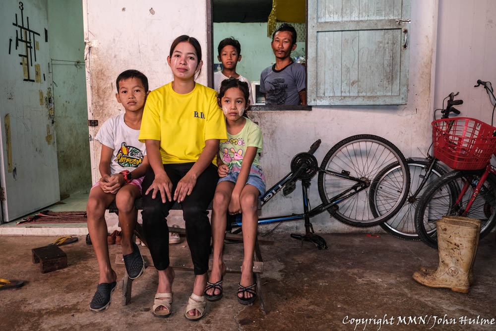 Ma San San arrived in Thailand in 2017 and worked in a factory that she has to peel shrimps and she earns 315 baht a day. The factory was closed and re-opened in August with reducing working days. And it impacts her income to be reduced from 9000 baht to 2000 baht per month. Reduced income has made her 13 years old son to drop out from school for working in a motor bike repair shop.