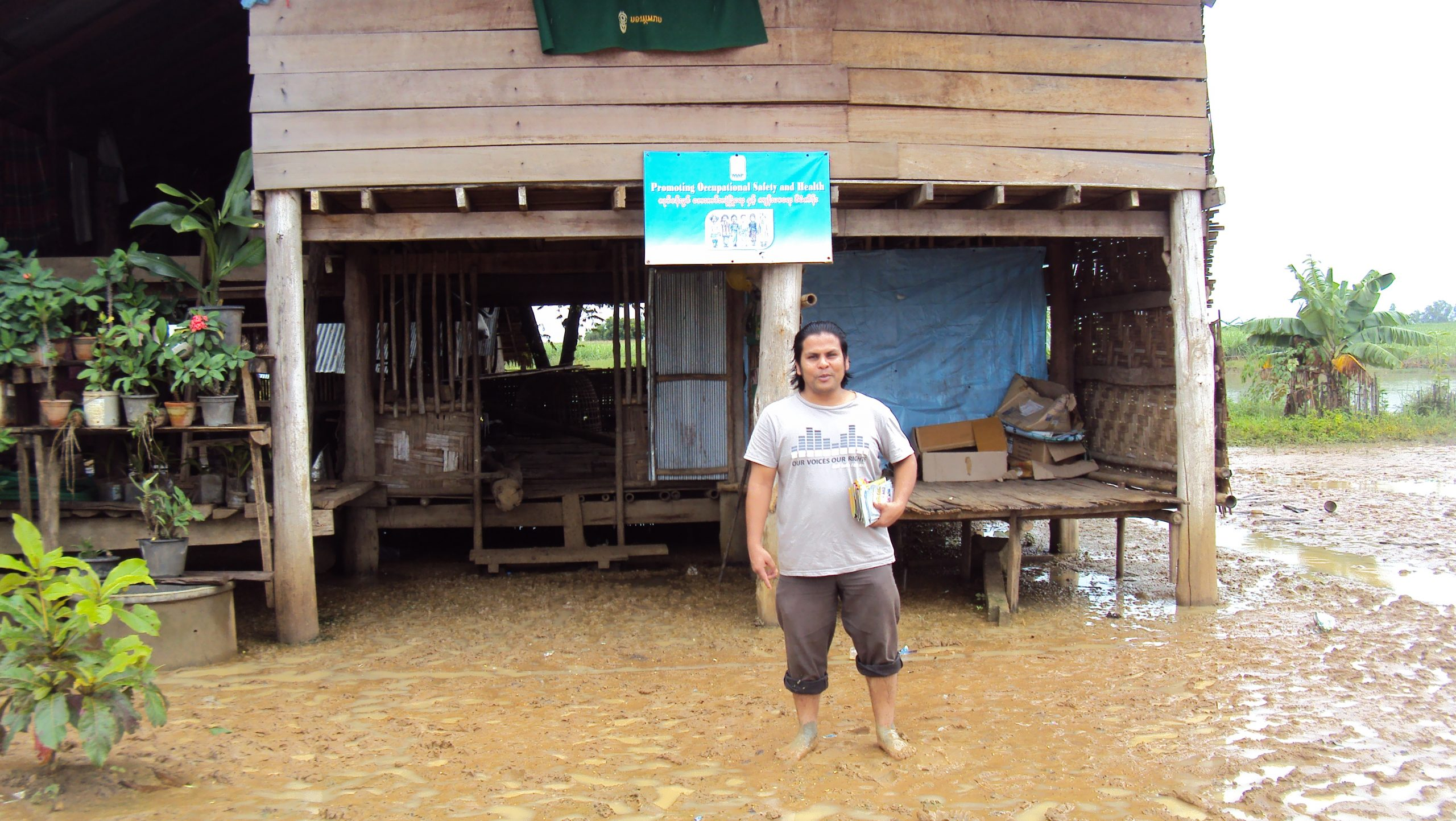 MMN project partner conducts research on the field in Mae Sot, Thailand (Photo: MAP Foundation)