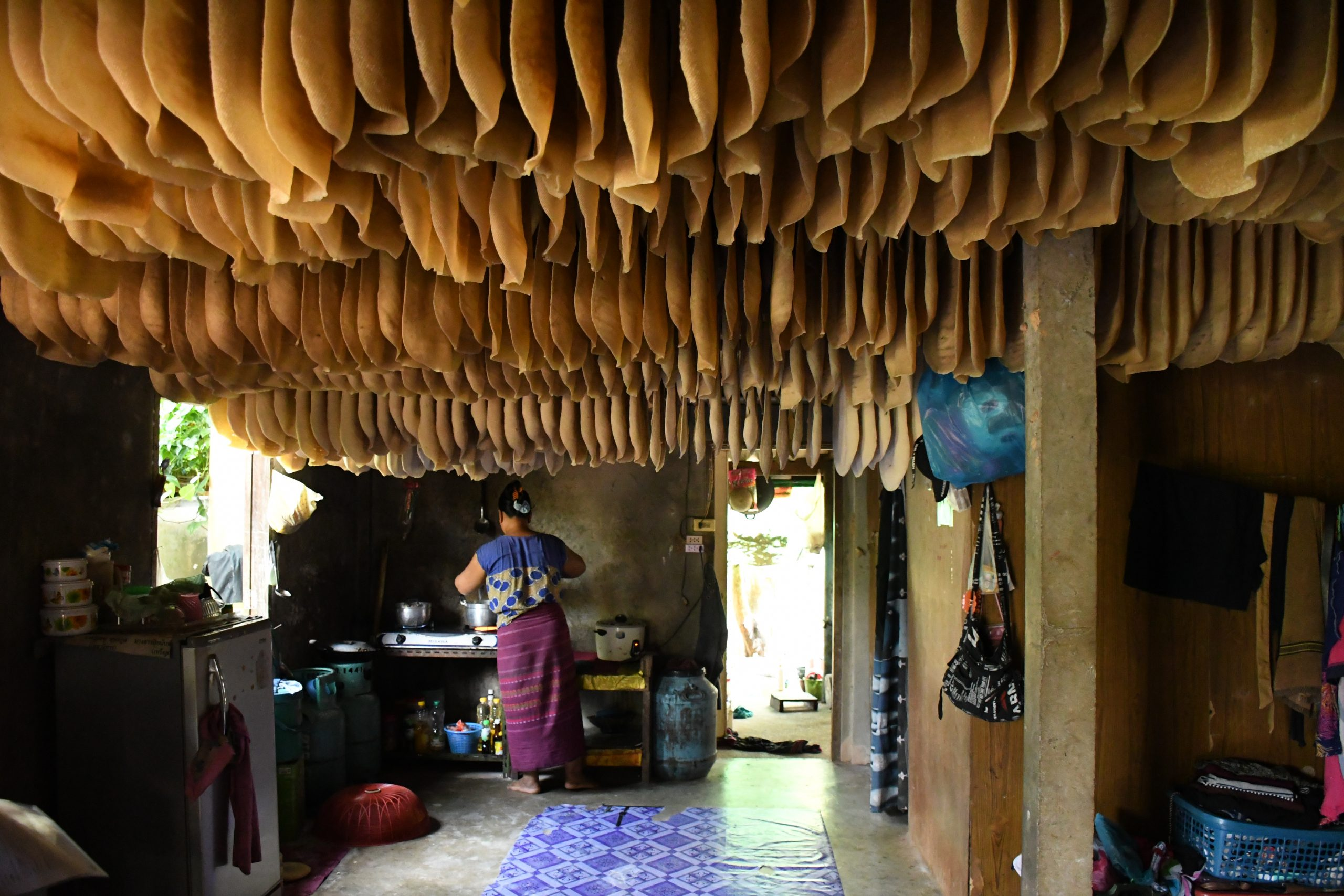 A migrant worker's house near a rubber plantation in Surat Thani, Thailand (Photo: Raks Thai Foundation)