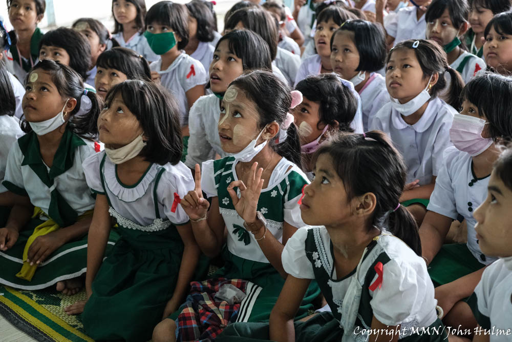 Students at the first day of second semester of academic year 2020 at 'Unified Learning Center' operated by Foundation for Education and Development (FED), Phang Nga.